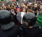 Cerca de 2.000 detenidos en las manifestaciones contra Putin en Rusia