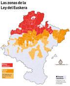 Aprobada la extensión de la Zona Mixta a 44 localidades, con euskera oficial