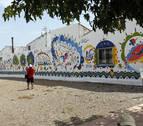 Fontellas estrena su mural sobre el agua