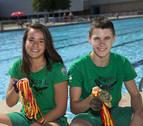 Patricia y Oier, ocho dobletes de oro en Natación