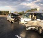Dos heridos en un accidente de tráfico ocurrido en Caparroso