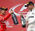 Bottas redondea su gran fin de semana y Vettel sale más líder