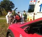 Un motorista, herido de gravedad en una salida de vía en Valcarlos