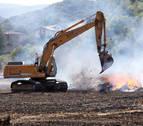 Extinguido un incendio en Anoz tras calcinar 15 hectáreas de rastrojo y arbolado