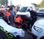 Cinco intoxicados, uno más grave, en el incendio de un taller mecánico en Fontellas