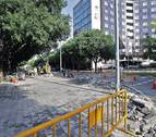 La reordenación del tráfico en Pamplona llega al paseo de Sarasate y la calle Padre Moret