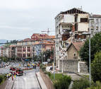 Se derrumba parte de un edificio desalojado este miércoles en Santander