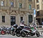La solución de los moteros para el aparcamiento en el centro de Pamplona