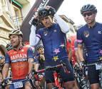 Etxarri y Olano, primeros en la marcha cicloturista 'La Induráin'