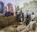 La excavación en la antigua iglesia de San Nicolás de Tudela, en marcha