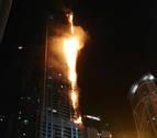 Extinguen el incendio registrado en el rascacielos 'La Antorcha' de Dubái