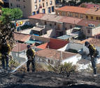 Los bomberos dan por extinguido el incendio del miércolesen Falces