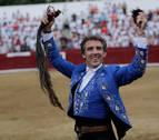 Hermoso de Mendoza y su hijo dan una tarde excelente en la Feria de Estella