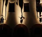 Un baile de altura en las murallas de Pamplona