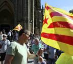 Multitudinaria marcha en San Sebastián para apoyar la independencia de Cataluña