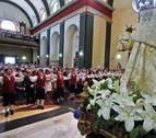 Castellano, euskera y africano durante la misa en fiestas de Burlada