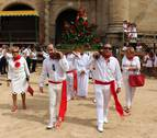 La fiesta da paso a los actos más solemnes en Lerín