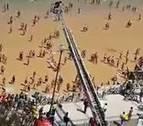 Rescate de película en la playa de la Concha de San Sebastián