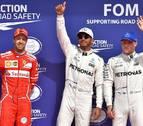 Hamilton iguala el récord de Schumacher y saldrá primero, delante de Vettel