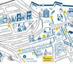 Un mapa anima a los peregrinos a descubrir los encantos de Pamplona