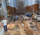 Las excavaciones en la iglesia San Nicolás de Tudela hallan estructuras del siglo XII