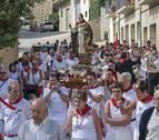Devoción y veteranía se funden en el día del patrón en Ayegui