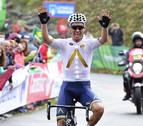 Denifl asalta Los Machucos con un Contador valiente y un Nibali lanzado