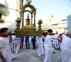 Artajona rinde honores a la Virgen de Jerusalén