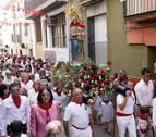 Ablitas sale a la calle para honrar a su patrona, la Virgen del Rosario