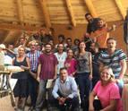 21 personas terminan en Lizaso el primer curso de bioconstrucción del país