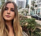 """La navarra Andrea Oyarzun, en Miami: """"Me vi atrapada"""""""