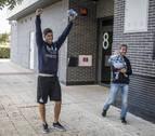 El mejor recibimiento para el campeón Ioseba Fernández