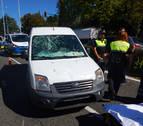 Herida grave una ciclista de 24 años en un accidente con una furgoneta en Pamplona