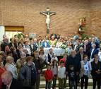 Fiesta sorpresa para el párroco de Noáin tras el robo en su casa