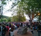 Aoiz estrena con música y danzas su Parque de la Memoria