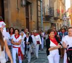 Los vecinos de Corella pasean a la Virgen de la Merced