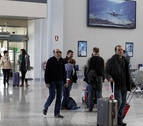 El aeropuerto de Pamplona cierra 2018 con un 24% más de pasajeros que en 2017