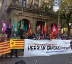ELA, LAB, ESK, Steilas, Etxalde e Hiru muestran su apoyo al referéndum del 1-O