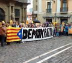 Concentración en Pamplona a favor del referéndum