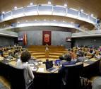 El Parlamento foral rechaza la declaración de apoyo a la Policía Nacional y Guardia Civil