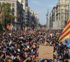 La huelga frena por un día el proceso catalán