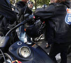 Seis moteros Harley Davidson alertan en Pamplona sobre el consumo de alcohol