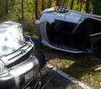 Herido grave tras la colisión de dos vehículos en Garde
