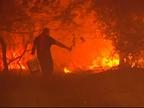 Empieza a llover ligeramente en el sur de Pontevedra, donde hay incendios activos