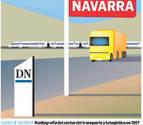 Transporte de mercancías por carretera: el 'termómetro' de la economía foral