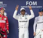 Hamilton consigue 'bola de partido' con su 'pole' en Texas