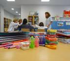 Niños y niñas de Cáseda donan material escolar al área de hospitalización infantil del CHN