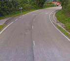 Un herido al caer 20 metros con su coche en Leitza