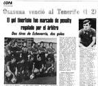 Osasuna logró su única victoria en el Heliodoro en septiembre de 1976