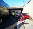 Normalizado el tráfico tras retenciones de 3 kilómetros en la ronda de Pamplona por un accidente múltiple
